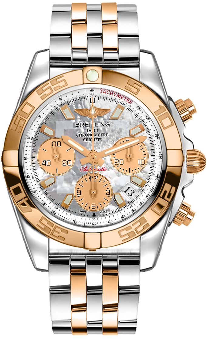 Breitling Chronomat 41 Automatic Chrono Mens Gold Steel