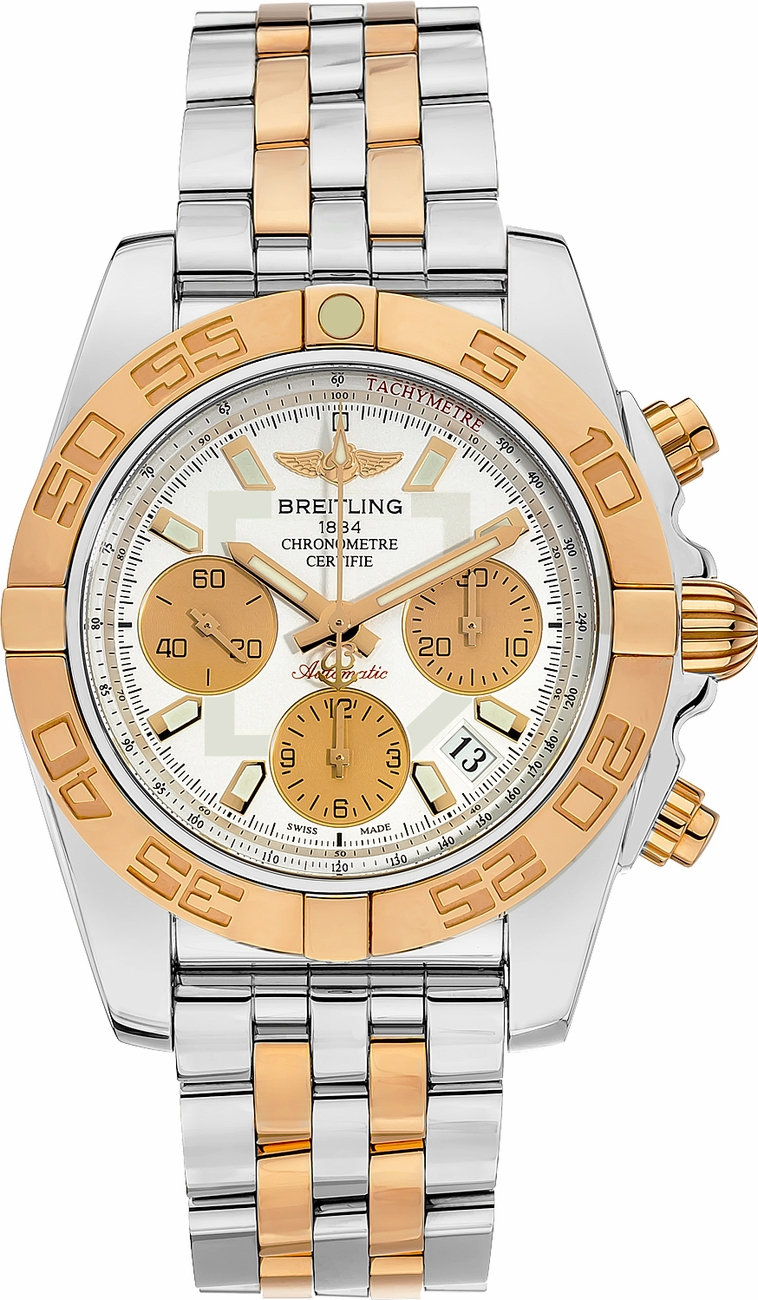 Cb014012 g713 378c breitling chronomat 41 automatic chronograph for Breitling automatic