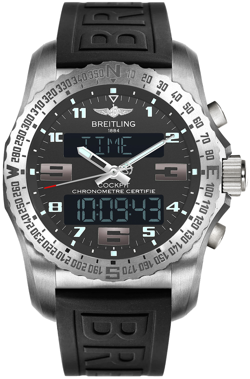 Perpetual Calendar Watch >> Breitling Cockpit B50 EB5010B1/M532-155S Mens Quartz GMT ...