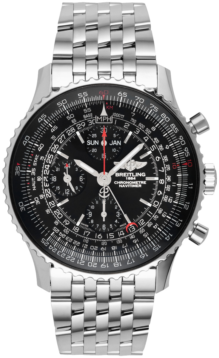 A2135024 be62 453a breitling navitimer 1884 limited edition mens automatic chronograph watch for Breitling automatic