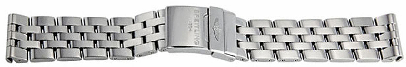 Image of Breitling Stainless Steel Pilot Bracelet 385A