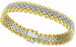 Diamond Bracelet, 6.52 Carat Diamonds on 18K White & Yellow Gold