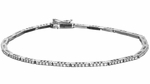 Diamond Bracelet, .62 Carat Diamonds on 14K White Gold