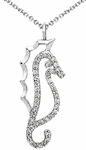 Diamond Pendant, .16 Carat Diamonds on 14K White Gold
