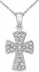 Diamond Pendant, .24 Carat Diamonds on 14K White Gold