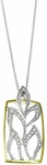 Diamond Pendant, .25 Carat Diamonds on 14K White & Yellow Gold