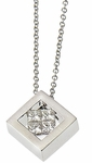 Diamond Pendant, .30 Carat Diamonds on 14K White Gold