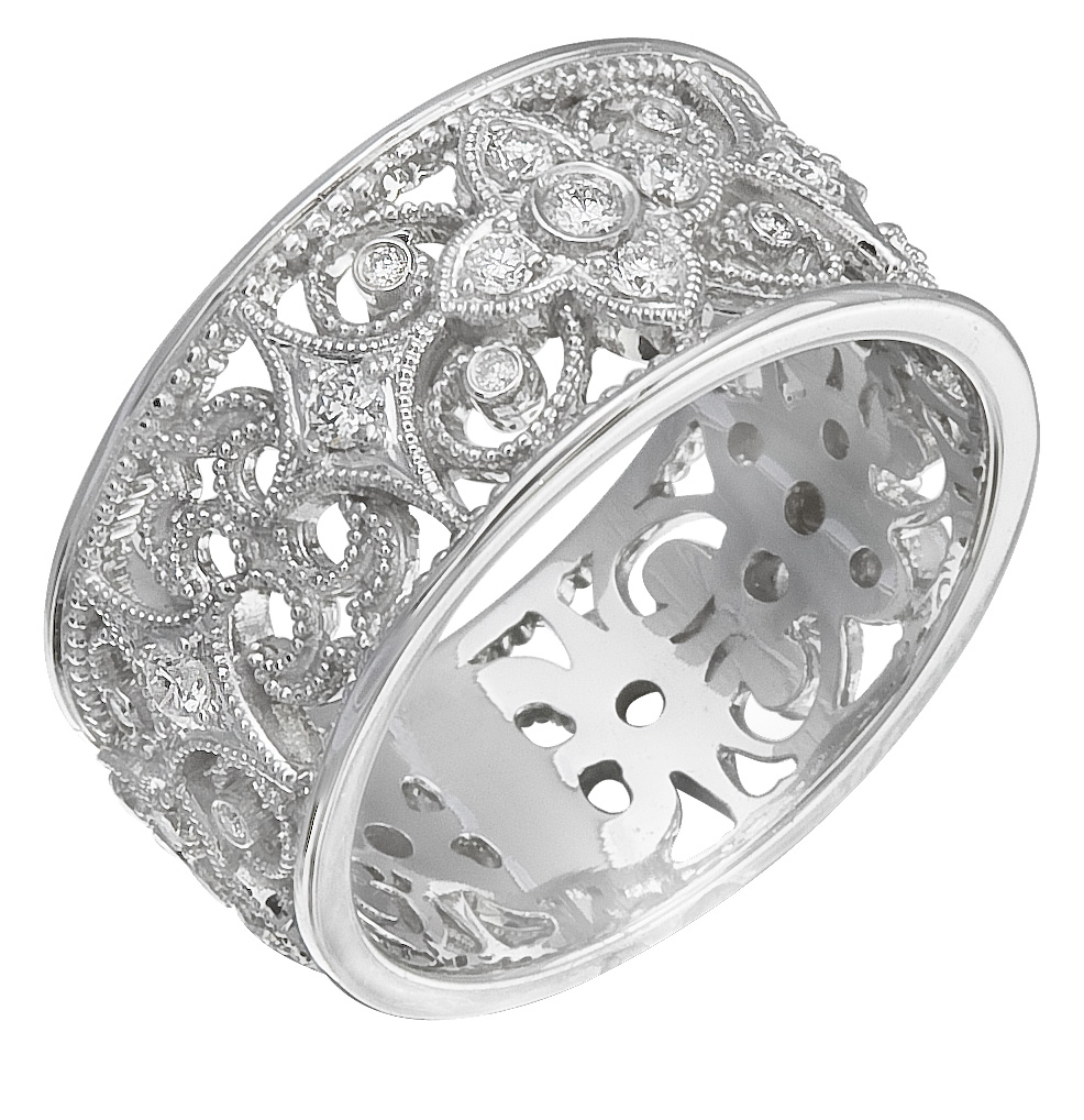 buy it now authentic diamonds set on 14k white gold ring. Black Bedroom Furniture Sets. Home Design Ideas