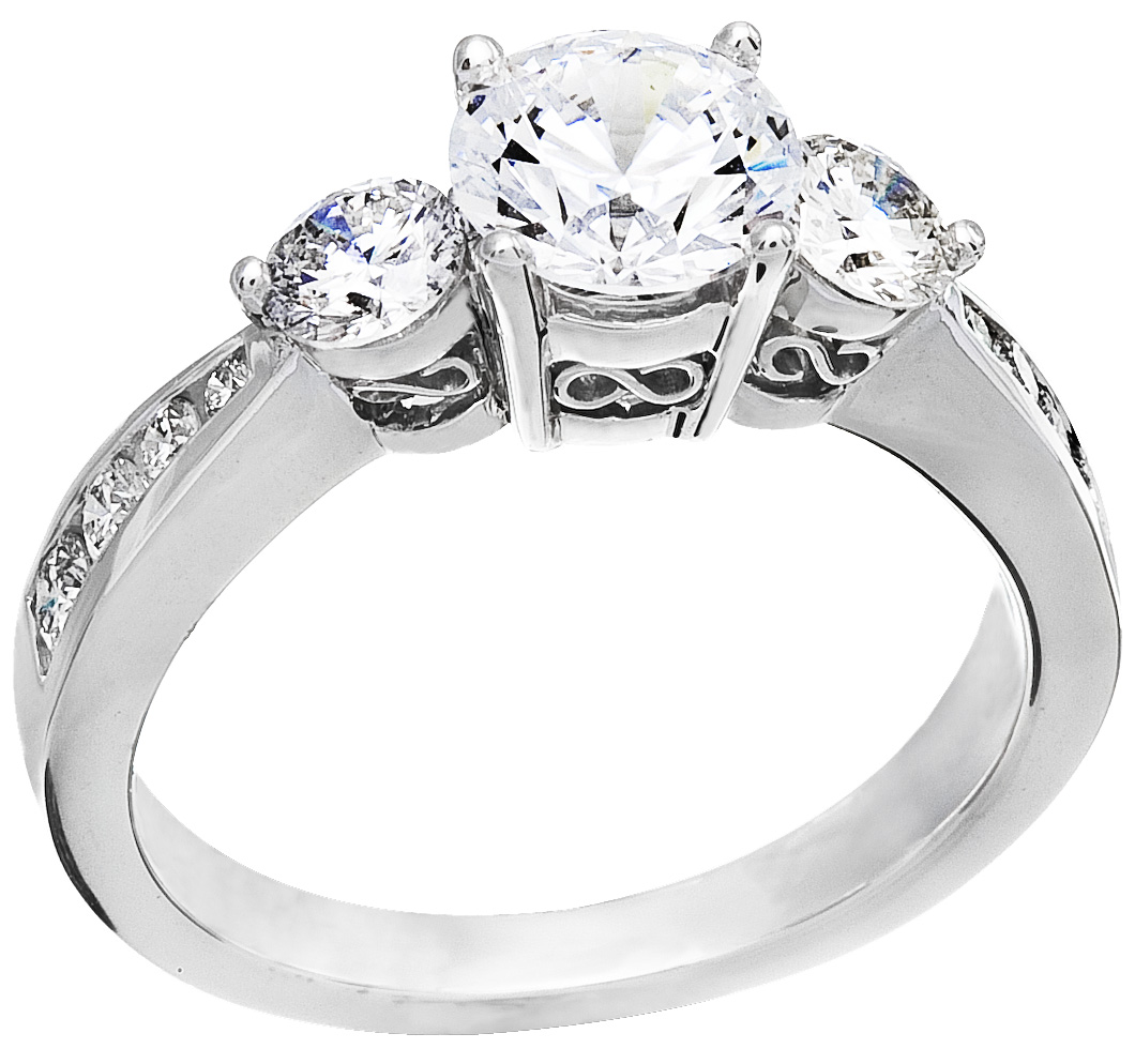 solid engagement solitaire white diamond e karat in d sm ring gold carat round set