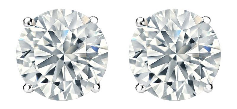 Image of .50 TCW Diamond Stud Solitaire White Gold Earrings 3PE50WG