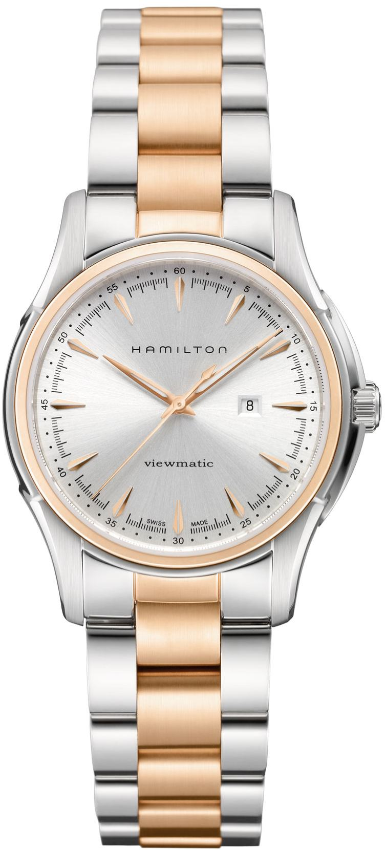 H32305191 hamilton 34mm jazzmaster automatic silver dial watch for American classic