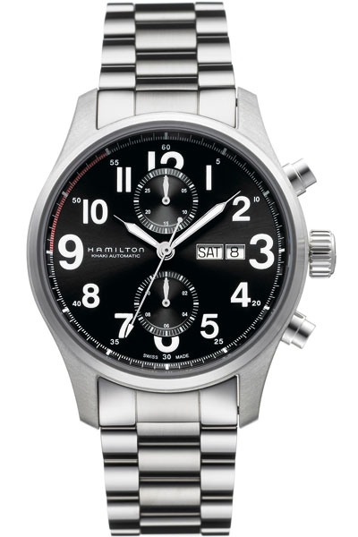 Gmt Auto Sales >> H71716133 Hamilton Khaki Officer Auto Chrono Day Date Mens ...