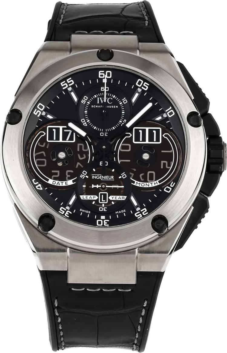 iw379201 iwc big ingenieur chronograph mens black dial