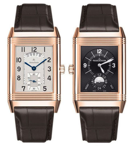 on insider hands the timepiece classic duoface watches deco and lecoultre a steel reverso elegant available x home case stainless second format large silvered mm art front dial in with small an watch jaeger understated ultra very new this presents measuring