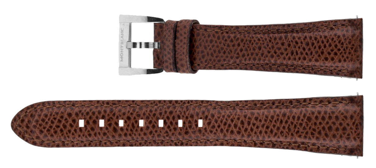 Image of MontBlanc 18mm Brown Leather Strap MB18BRNLT