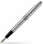 Montblanc Meisterstuck Solitaire Platinum Plated Facet Fountain Pen 38245