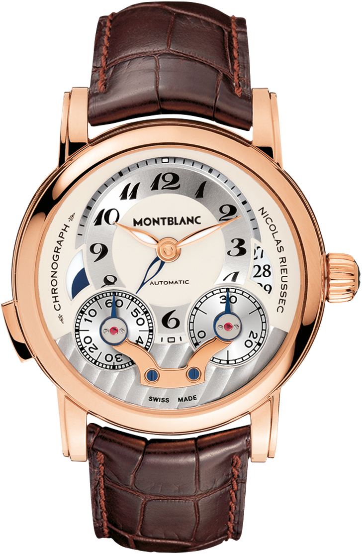 Montblanc nicolas rieussec 104271 mens 43mm solid 18k rose for Montblanc house