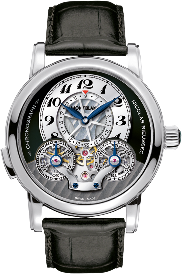 New montblanc nicolas rieussec 104981 chronograph manual for Montblanc house