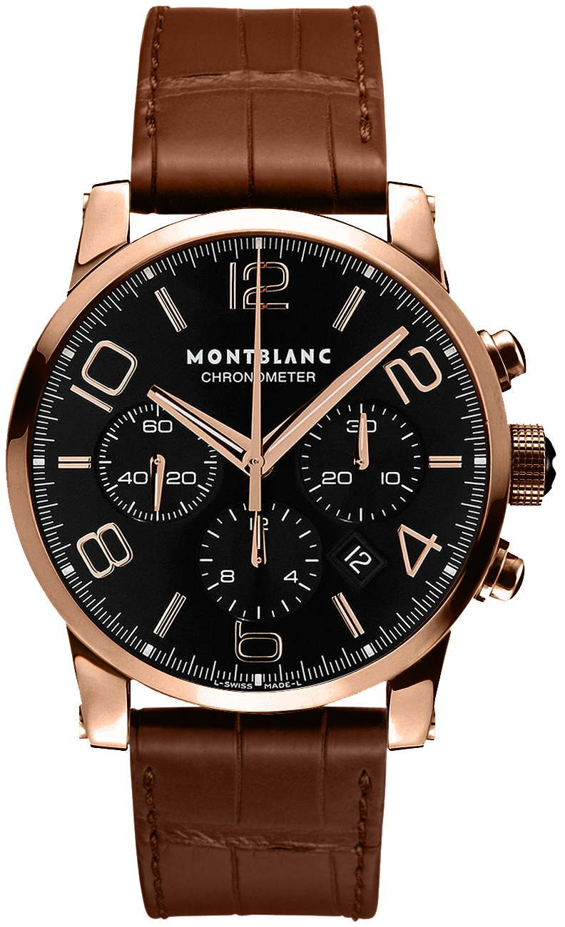 101565 montblanc timewalker chronograph mens red gold watch for Montblanc house