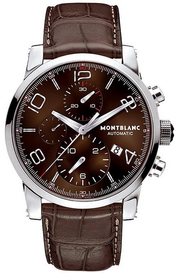 dial heritage stainless silver mount watches bucherer black brands steel mens montblanc automatic watch