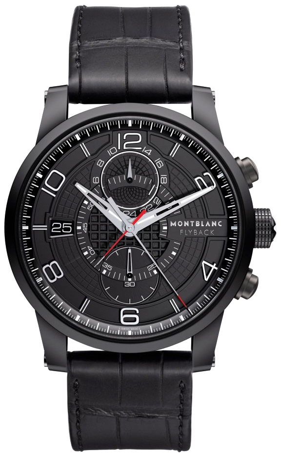 large montblanc product watches men silver black mount watch with zoom for dial