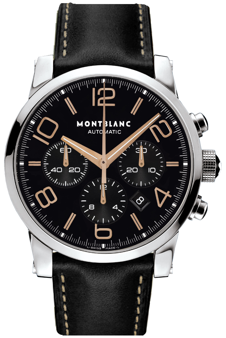 106582 montblanc timewalker chronograph rose gold tone for Montblanc house