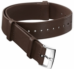 Omega 20mm Dark Brown Leather NATO Strap 031CUZ010753