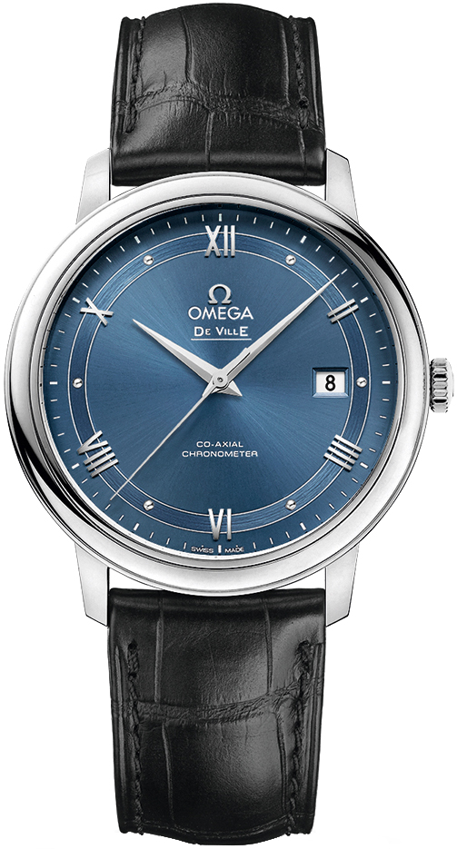 Best Automatic Watches >> 424.13.40.20.03.002 Omega DeVille Prestige Blue Dial Watch
