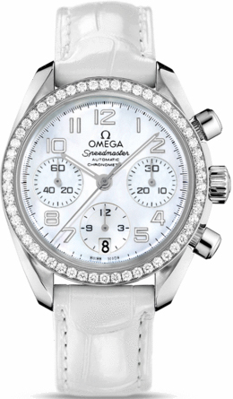 32418384005001 omega speedmaster ladies white mop