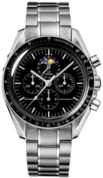 omega speedmaster moon watch automatic chronograph mens watch black. Black Bedroom Furniture Sets. Home Design Ideas