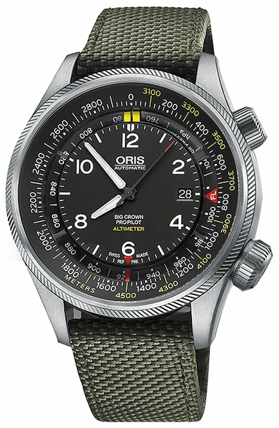 Oris Big Crown ProPilot Altimeter with Meter Scale 73377054164FS-GREEN