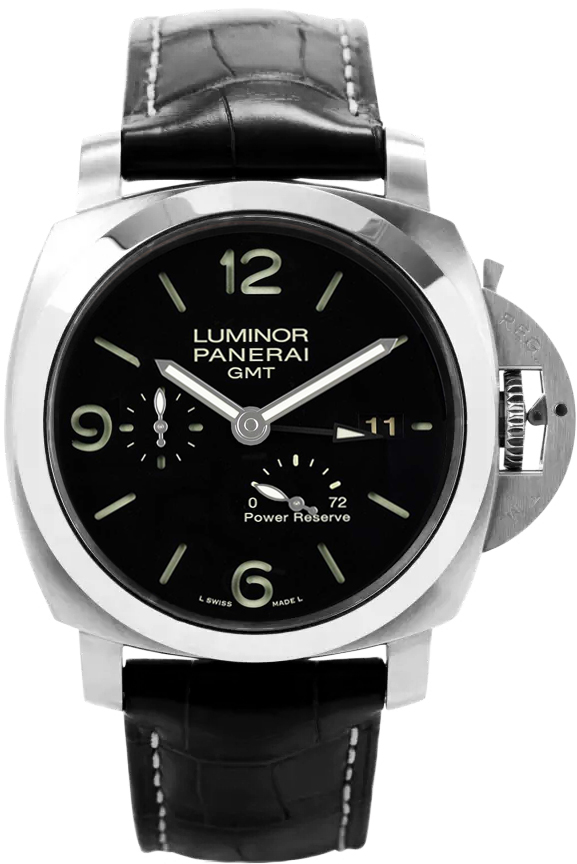 automatic black officinepanerai dial panerai male watches officine bucherer steel luminor en mens ch frontpac watch stainless