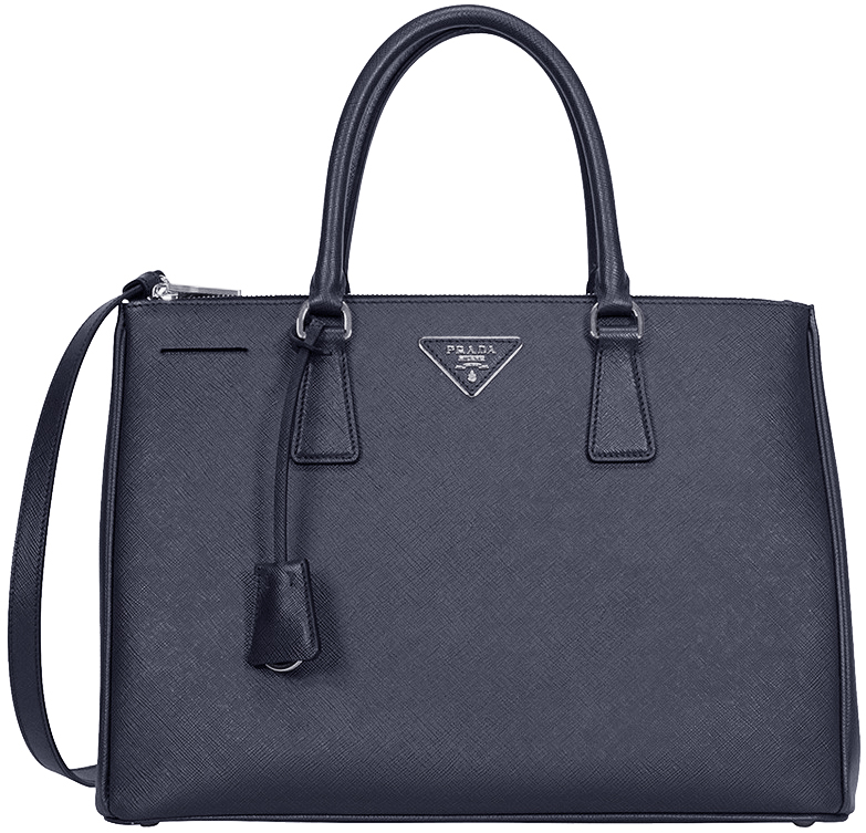 Image of Prada Saffiano Lux Medium Double-Zip Tote Bag