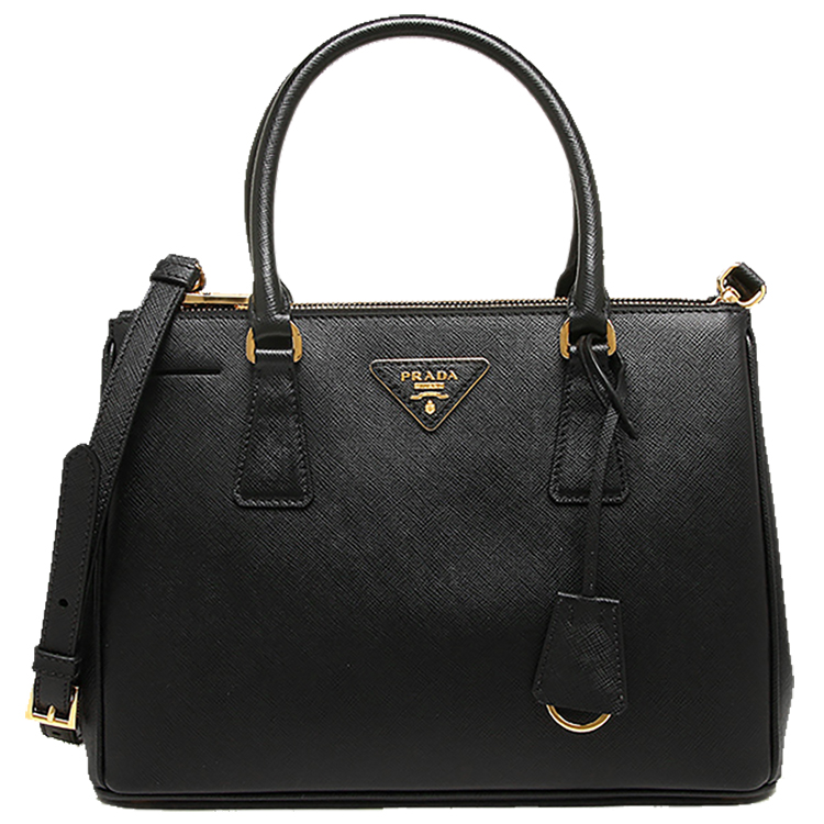 Image of Prada Saffiano Lux Small Double-Zip Tote Bag