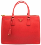 Prada Saffiano Lux Small Double-Zip Tote Bag