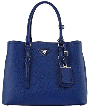 Image of Prada Saffiano Cuir Double Medium Tote Bag