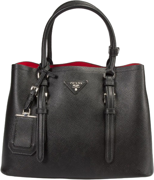 Image of Prada Saffiano Cuir Double Small Tote Bag