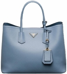 Prada Saffiano Cuir Double Large Tote Bag