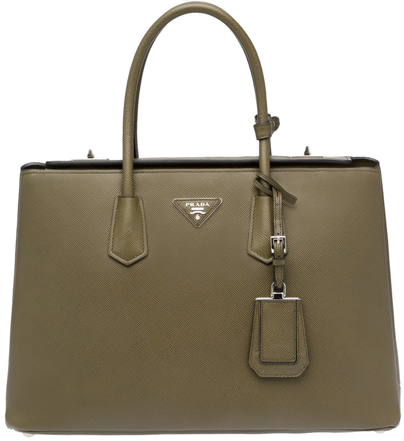 Image of Prada Saffiano Cuir Large Twin Tote Bag