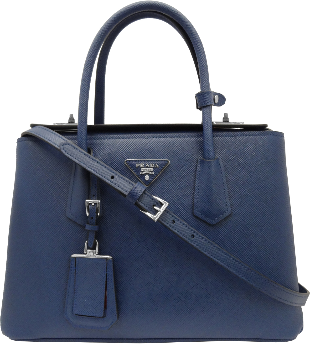 Image of Prada Saffiano Cuir Medium Twin Tote Bag