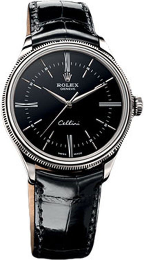 50509 rolex cellini time black dial watch for Rolex cellini