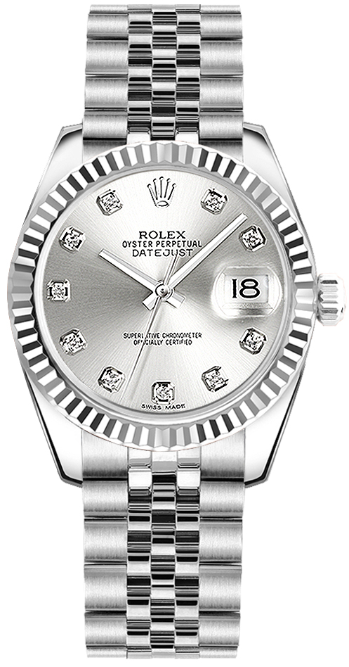178274 slvdj rolex 31 datejust watch for Rolex date just 31