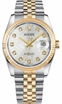 Rolex Datejust 36 Silver Jubilee Diamond Women's Watch 116233