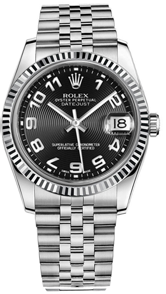 116234 blkcj rolex datejust 36 men 39 s luxury watch for Rolex date just 36