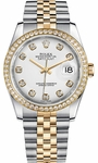 Rolex Datejust 36 Women's White Dial Watch 116243