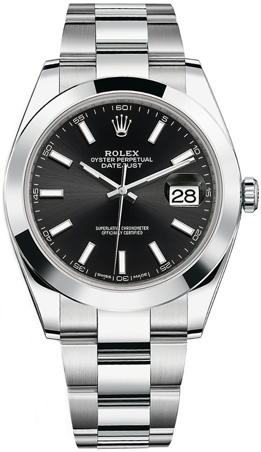 Best Automatic Watches >> 126300-BLKSO | Rolex Datejust 41 | Men's Watch