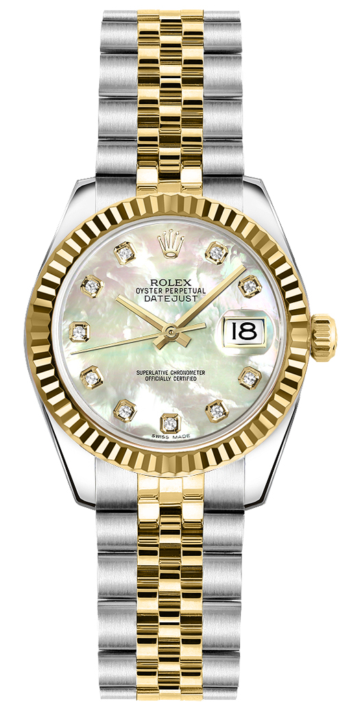 179173 rolex datejust 18k yellow gold ladies automatic. Black Bedroom Furniture Sets. Home Design Ideas