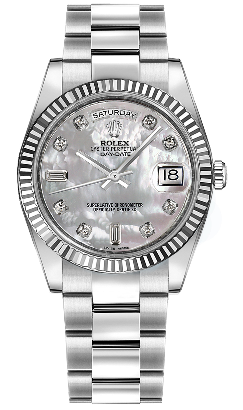 118239 rolex day date 36 mother of pearl diamond for Rolex day date 36