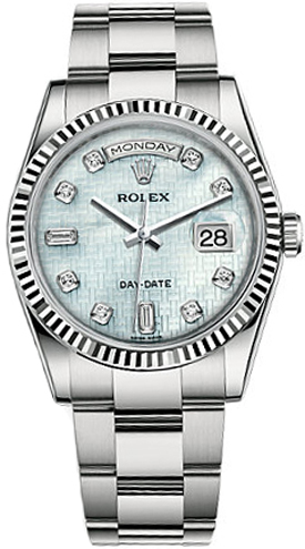 118239 pmpdo rolex day date 36 white gold watch for Rolex day date 36