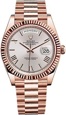 """Rolex Day-Date 40 228235 Rose Gold Watch""的图片搜索结果"